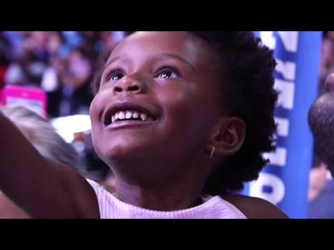 Faces from the floor on Hillary's big night