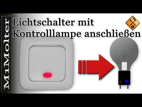 schalter mit kontrollleuchte anschlieen teil 1 wechselschalter mit kontrollleuchte von. Black Bedroom Furniture Sets. Home Design Ideas
