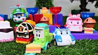 Tolle Spielzeugautos - Robocar Poli Toys - Eine Überraschung für Cleany