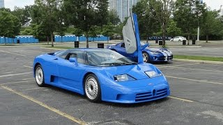 1994 Bugatti EB110 GT in Blue Paint with Engine Start Up on My Car Story with Lou Costabile