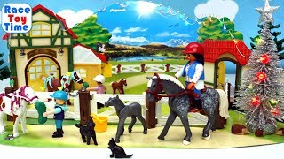 PLAYMOBIL Holiday Christmas-Opening Animals Horse Toys Surprises For Kids