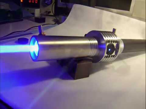 Worlds most powerful visible handheld laser / 7.3W Triple Diode Array (7.300mW)