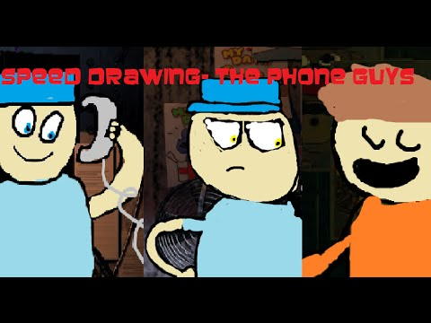 Speed Drawing- The Phone Guys (A DA Games FanArt)
