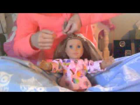 (NEW) how to easily curl your AG dolls hair with out curlers