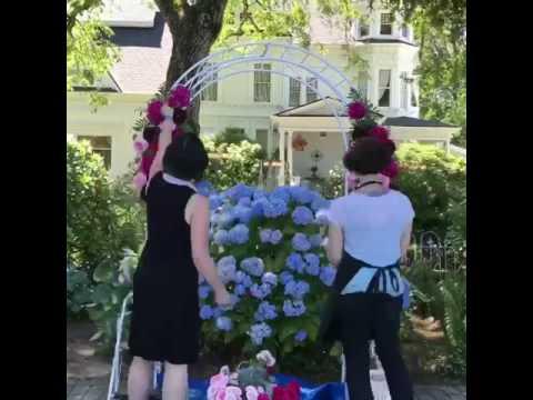 Victorian Mansion - floral arbor