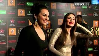 Video   Kareena Kapoor and Sonakshi Sinha   Star Guild Awards Red Carpet 2013