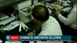 China's economy's recorded its slowest growth in 28 years