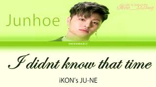 """iKON JUNE - """"I Didn_t Know That Time"""""""