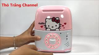 Đồ chơi két sắt mini rút tiền thông minh cho bé - Vali két sắt hello kitty - ATM Machine Toys For K