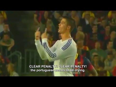 Messi mocks Cristiano Ronaldo protest | Barcelona 2-1 Real Madrid 2013 [English Sub]