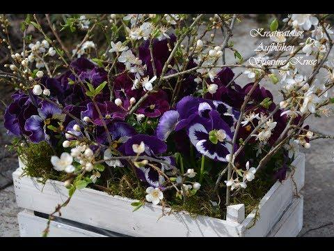 DIY: Blumenglück in der Kiste - Blumen Deko selber machen - schnell und günstig