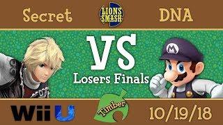 Timber #3 - Secret (Shulk) vs DNA (Bowser Jr., Mario) - Smash 4 Losers Finals