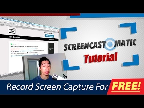 How To Record A Screen Capture Of Your Computer: Screencast-O-Matic
