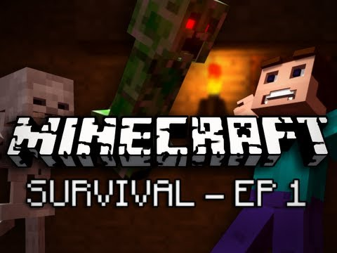 Minecraft: Survival Let's Play Ep. 1 - A Journey of Plural Heroes Music Videos