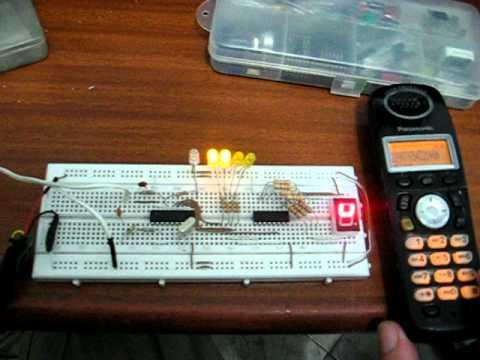 Detección de marcación de tonos telefónicos(DTMF) a números binarios: