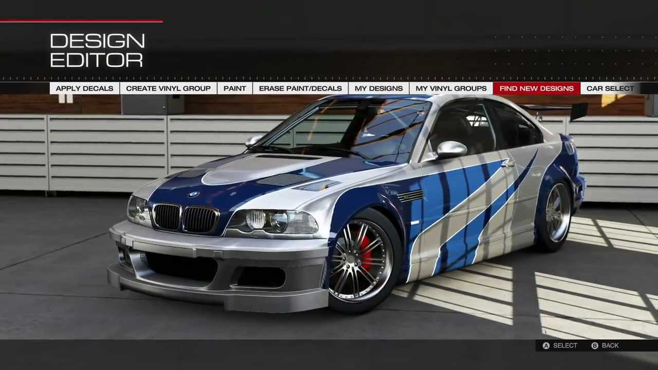 Forza 5 Remake Of The Bmw M3 Gtr From Need For Speed