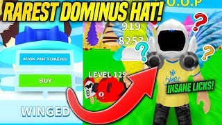 I GOT THE RAREST DOMINUS HAT IN ICE CREAM SIMULATOR AND IT'S OVERPOWERED!! (Roblox)