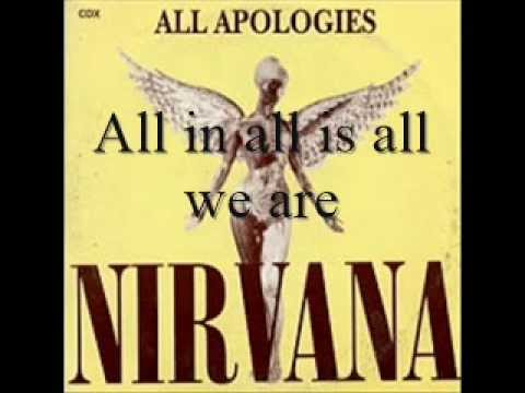 All Apologies Nirvana Lyrics