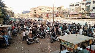 Used Bikes Sunday Bazaar in Karachi, Pakistan