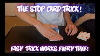 Stop! EASY Fooling Card Trick Performance And Tutorial!