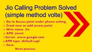 Jio Calling Problem Solved (Simple method volte)