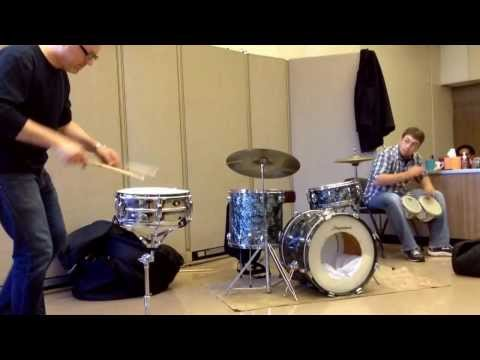 Drummers Curt Tompkins & David Goldberger at School For Tomorrow in Rockville, MD - 11/06/2013