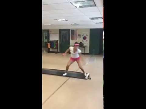 Tennis fitness Amina Anshba. Russia Player.
