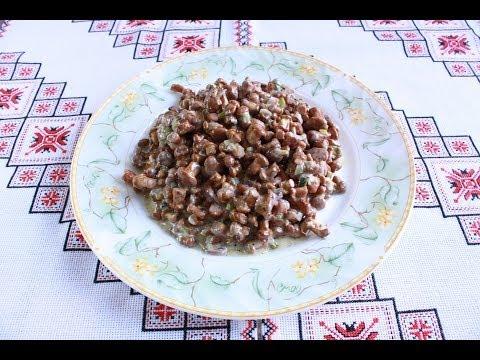 Лисички в сметане Грибы лисички рецепт Как приготовить лисички Гриб лисичка тушена в сметані
