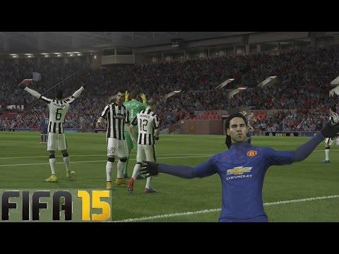 Juventus VS Manchester United -Falcao nos complica el partido - Temporadas Online | FIFA 15 Gameplay