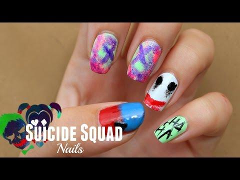 SUICIDE SQUAD Nail Art | Princess & the Polish