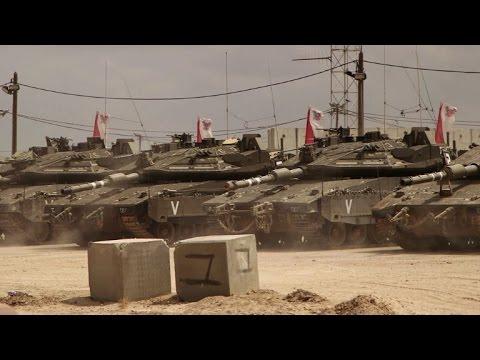 Israeli tanks patrol Gaza border amid high tensions