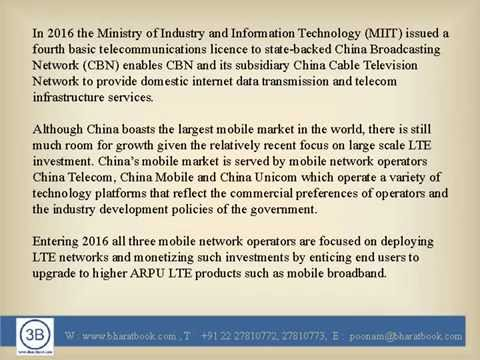 Telecoms Mobile Broadband and Digital Media