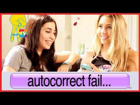 iPhone Text Fail with Lia Marie Johnson and Lainey Lipson