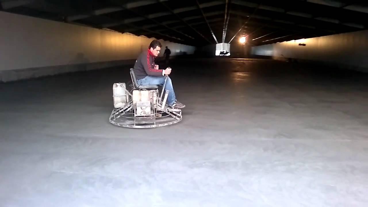 Helic ptero de pulir hormig n youtube - Como hacer cemento para suelo ...