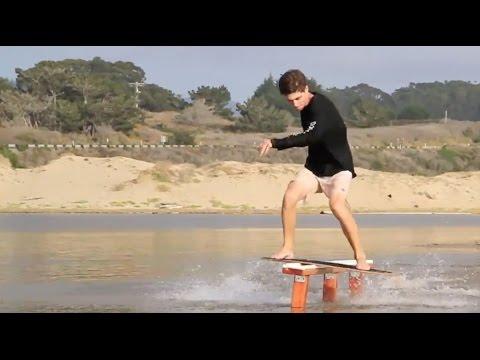 スキムボードの神業テクニック