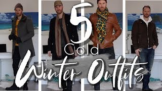 Cold Winter Outfits l How to style mens winter cloths