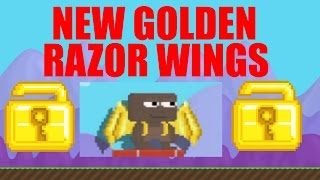 NEW GOLDEN RAZOR WINGS!?! (Growtopia Night of the Chemicals Update) [NEW WINGS?]