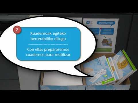 Jokatu modu Ekologikoan - Actúa de forma Ecológica: Cuadernos reciclados