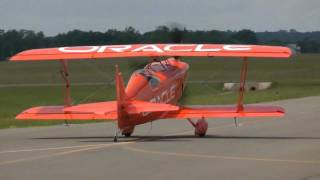Sean Tucker aerobatics in his new Challenger III Biplane cutting ribbons at KHWY on 5/19/11