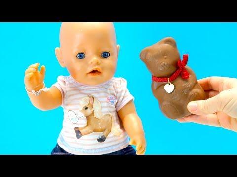 Как МАМА Прятала Сюрпризы в Шоколадного Медведя Мультик для детей Куклы #Бебибон