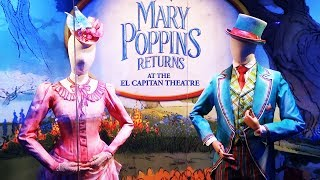 """""""Mary Poppins Returns"""" costumes and props displays at El Capitan Theatre"""