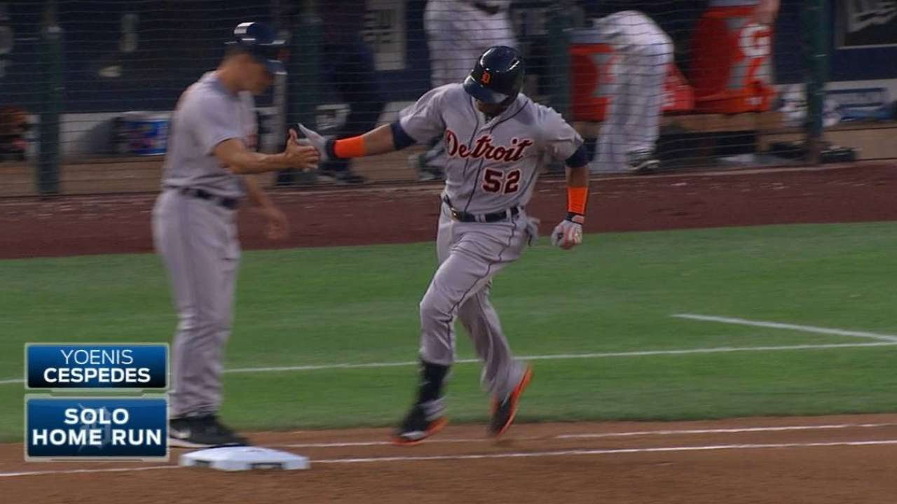 DET@SEA: Cespedes clubs Tigers' fourth homer of game