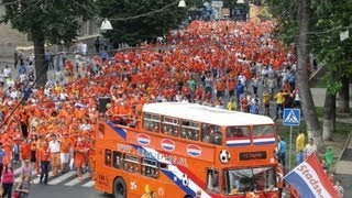 Dutch fans on Euro 2012 in Kharkiv, Ukraine