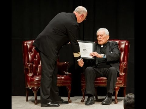 Father Hesburgh named Honorary Navy Chaplain