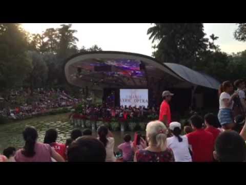 Singapore Lyric Opera performs Home at Botanic Gardens