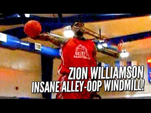 Zion Williamson INSANE Windmill Alley-Oop IN GAME!! Sports Center #1 Play!