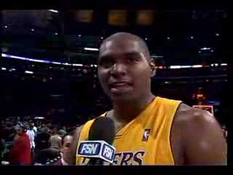Andrew Bynum Cusses on Live TV Video