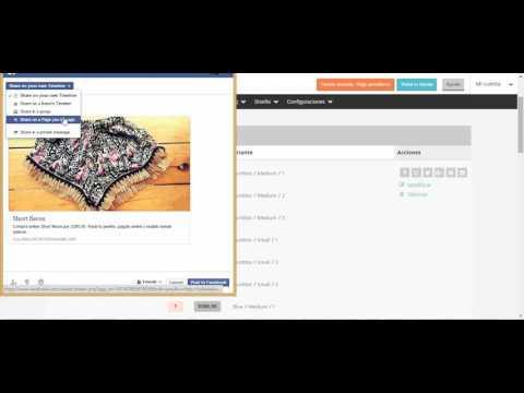 Cómo publicar productos en Facebook