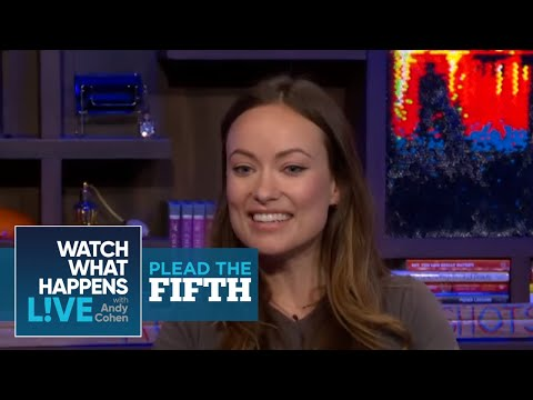 Olivia Wilde Answers Boyfriend Jason Sudeikis' Questions in this Plead the Fifth - WWHL
