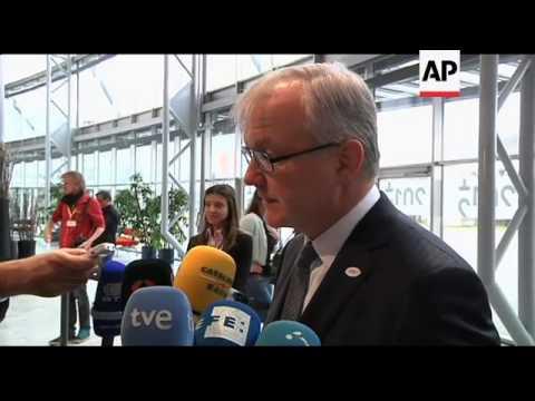 Eurozone finance ministers arrive ahead of meeting